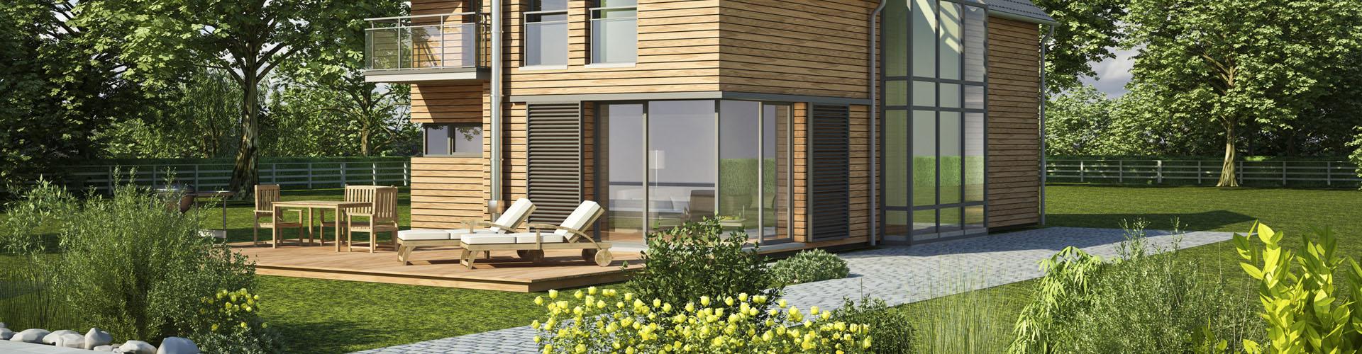 Case in legno redondo