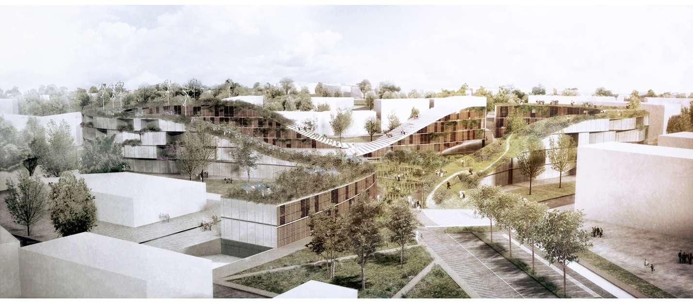 Progettazione area mazzoleni del comune di seriate bergamo - Tavole di concorso architettura ...